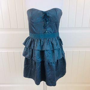 UO Kimchi Blue Strapless Striped Cocktail Dress